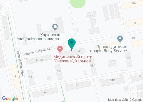 Медицинский центр «Снежана», стоматологическое отделение - на карте