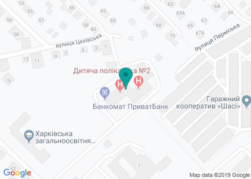 Харьковская городская детская поликлиника № 2, Стоматологическое отделение - на карте