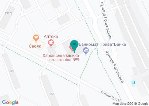 Харьковская городская поликлиника №9, Стоматологический кабинет - на карте