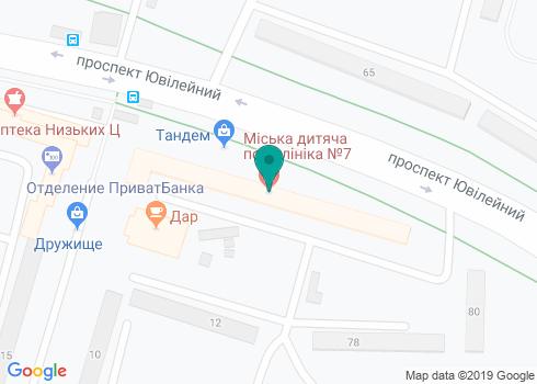 Харьковская городская детская поликлиника №7, Стоматологический кабинет - на карте