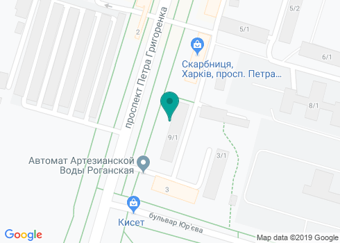 Харьковская городская стоматологическая поликлиника №3 - на карте