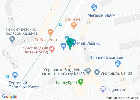 Стоматологическая клиника «Чайка» - на карте