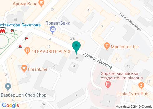 Харьковская областная студенческая больница, стоматологическое отделение - на карте