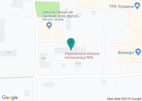 Харьковская городская поликлиника № 6, Стоматологическое отделение - на карте