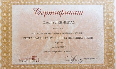 Левицкая Оксана Владимировна