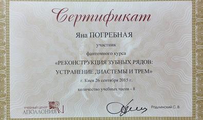 Погребная Яна Вадимовна